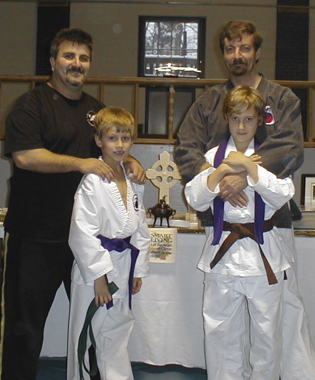 Master Vinnie Howard, Sifu Jeff Goodwin, Sr, Jonathan, & future Sifu Jeffrey Goodwin, Jr 2003